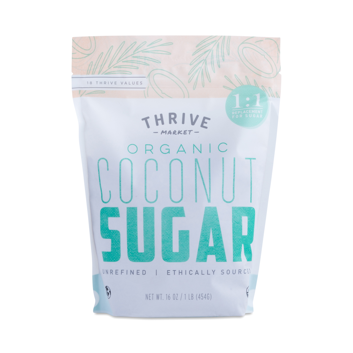 Thrive Market Organic Coconut Sugar 16 oz bag