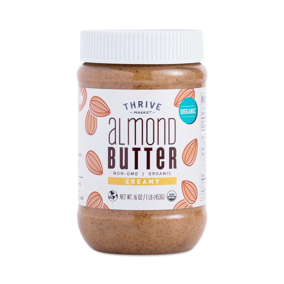 Organic Creamy Almond Butter - Thrive Market Almond Butter