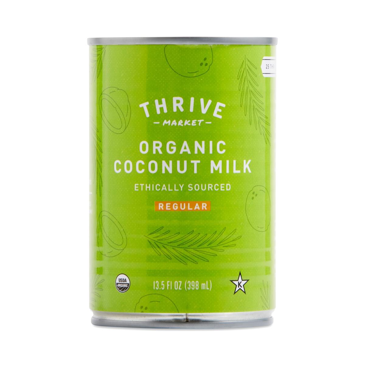 Dress Up your bone broth with Thrive Market Organic Coconut Milk - Regular 13.5 oz can