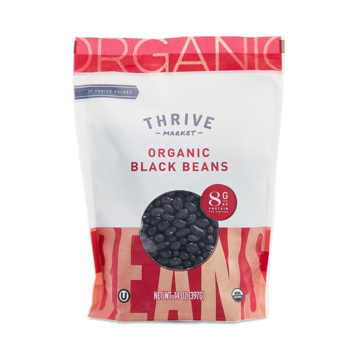Thrive Market Organic Dried Black Beans 14 oz bag