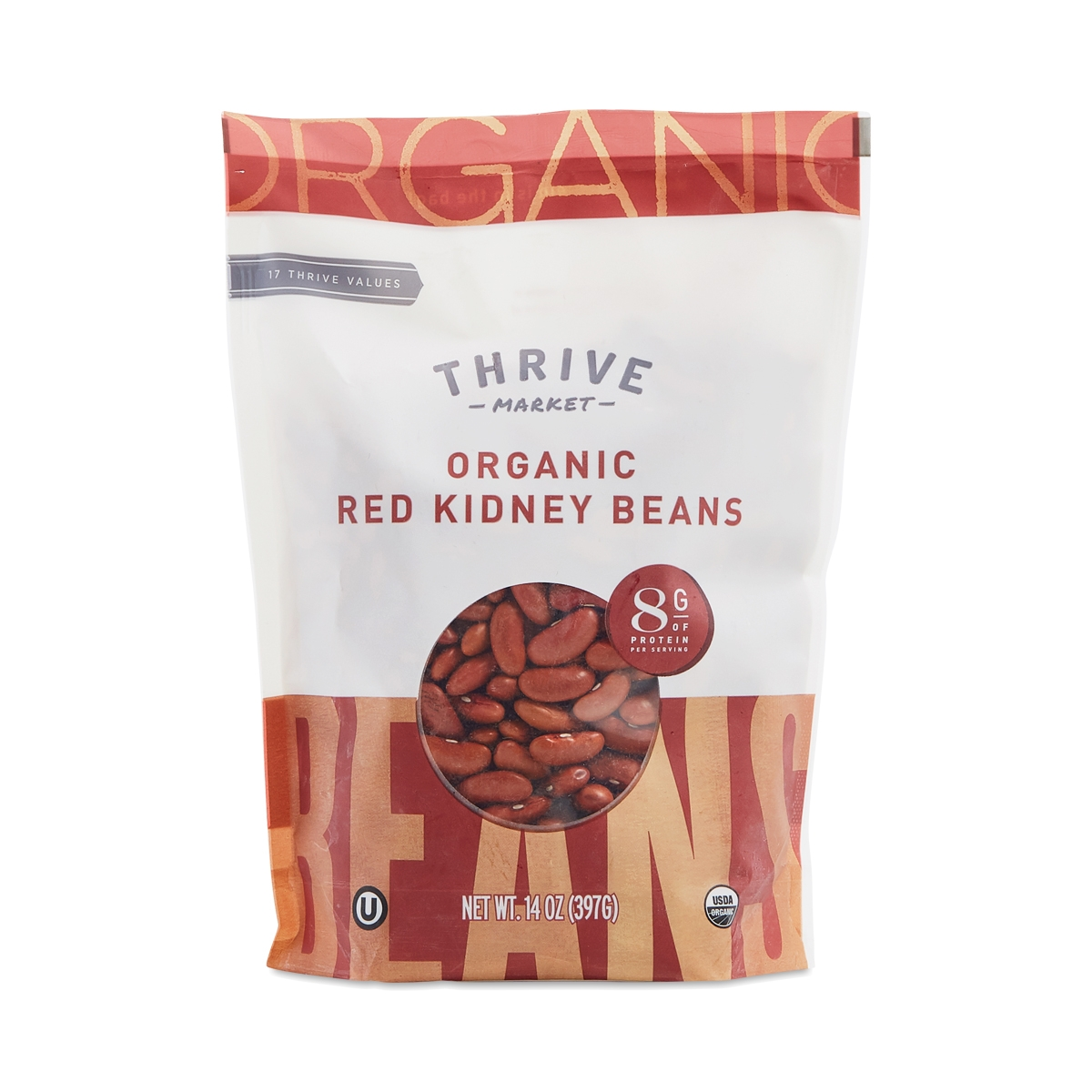 Thrive Market Organic Dried Red Kidney Beans 14 oz bag
