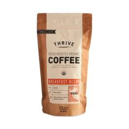 Organic Breakfast Blend Coffee, Whole Bean
