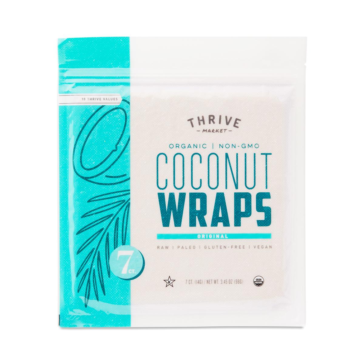 Thrive Market Organic Coconut Wraps, Original 7 (14g wraps)