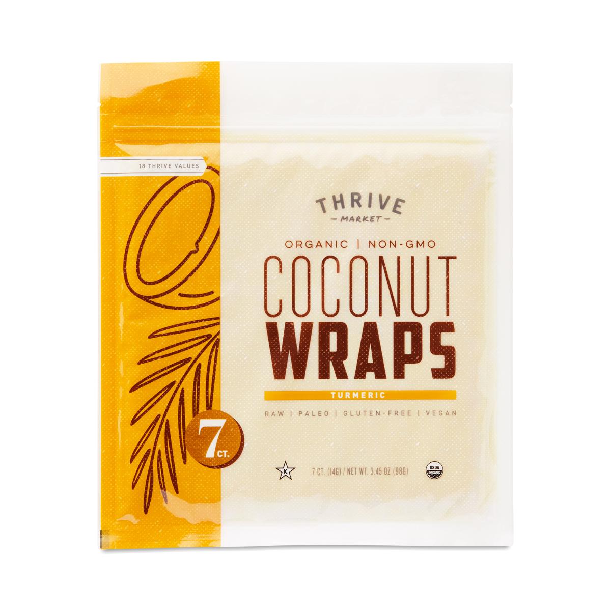 Thrive Market Organic Coconut Wraps, Turmeric 7 (14g wraps)