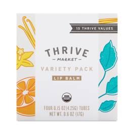 Organic Variety Pack Lip Balms- Vanilla Mint, Citrus, Peppermint, & Unflavored