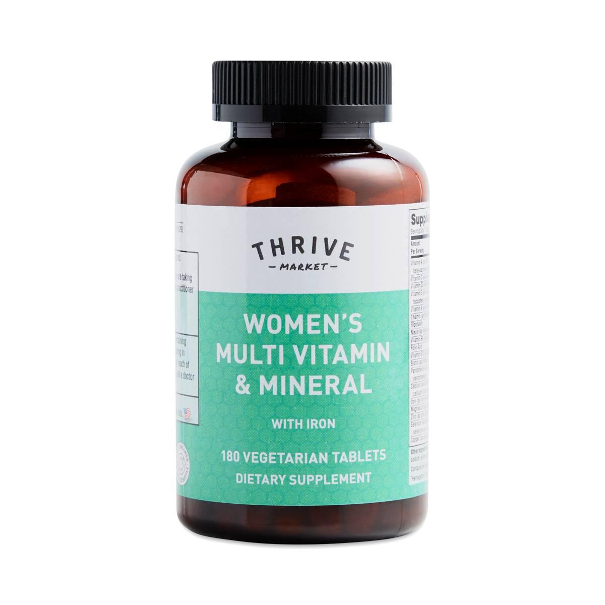 Women S Multi Vitamin Mineral With Iron Thrive Market