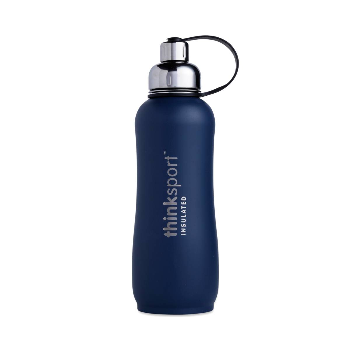 thrive exclusive reusable water bottle matte blue thrive market. Black Bedroom Furniture Sets. Home Design Ideas