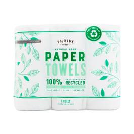 100% Recycled Paper Towels, 140 Sheet