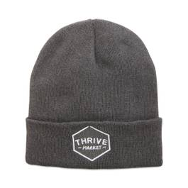 Thrive Market Beanie - White Icon