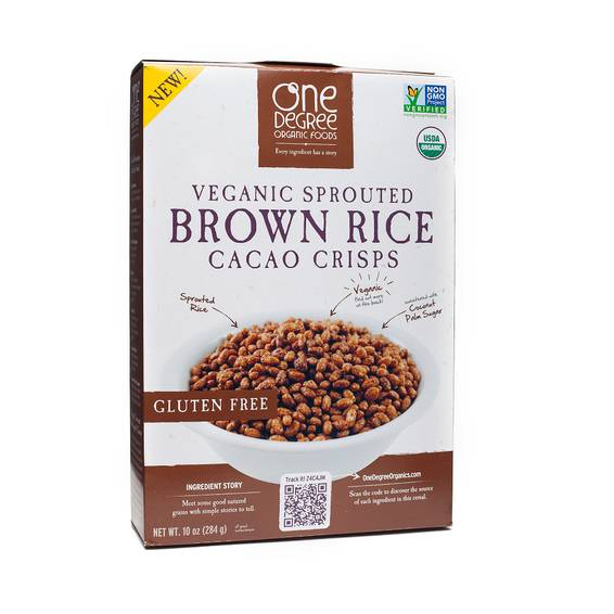 Organic Sprouted Brown Rice Crisps - Cacao