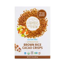 Sprouted Brown Rice Crisps, Cacao