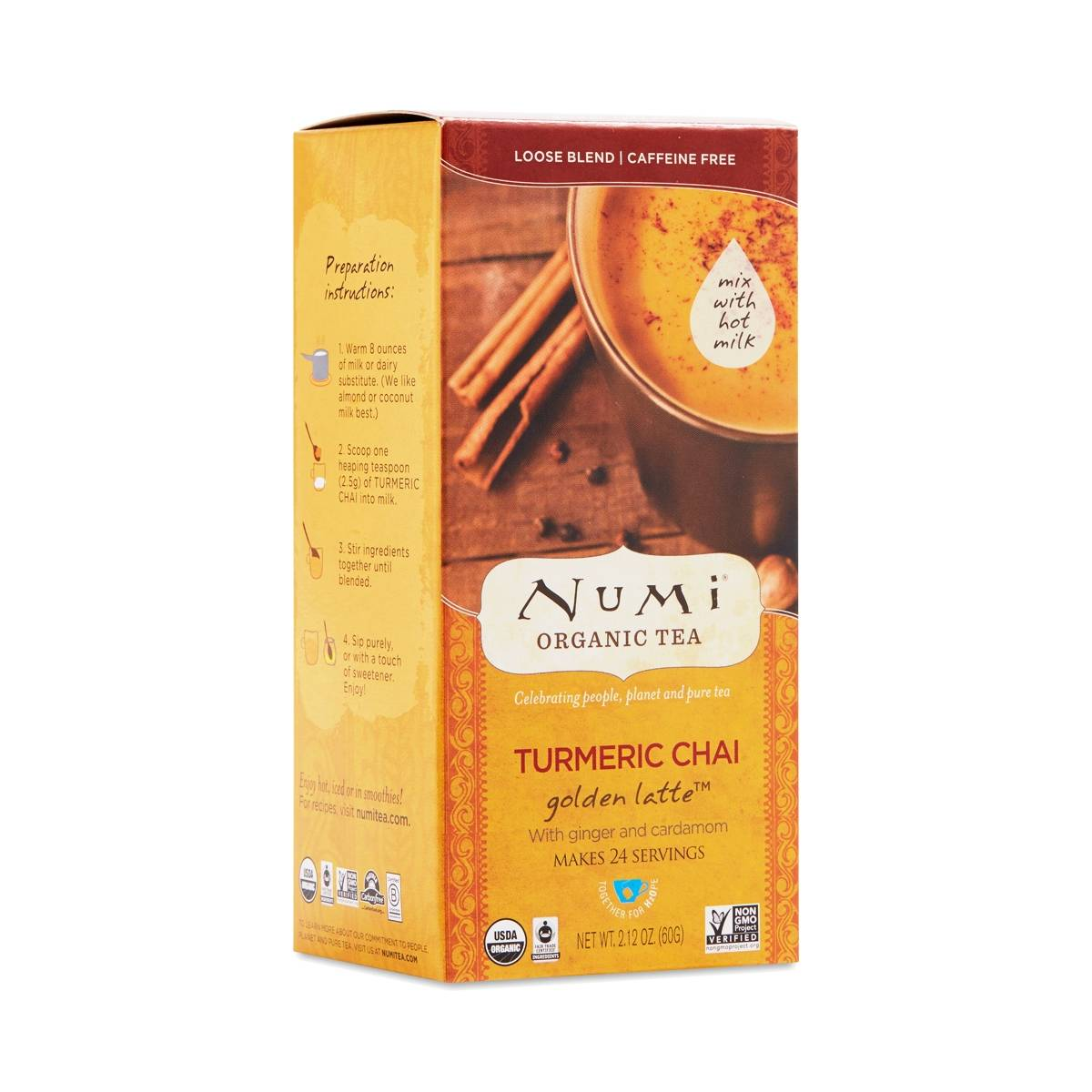 Turmeric Chai Golden Latte By Numi Thrive Market
