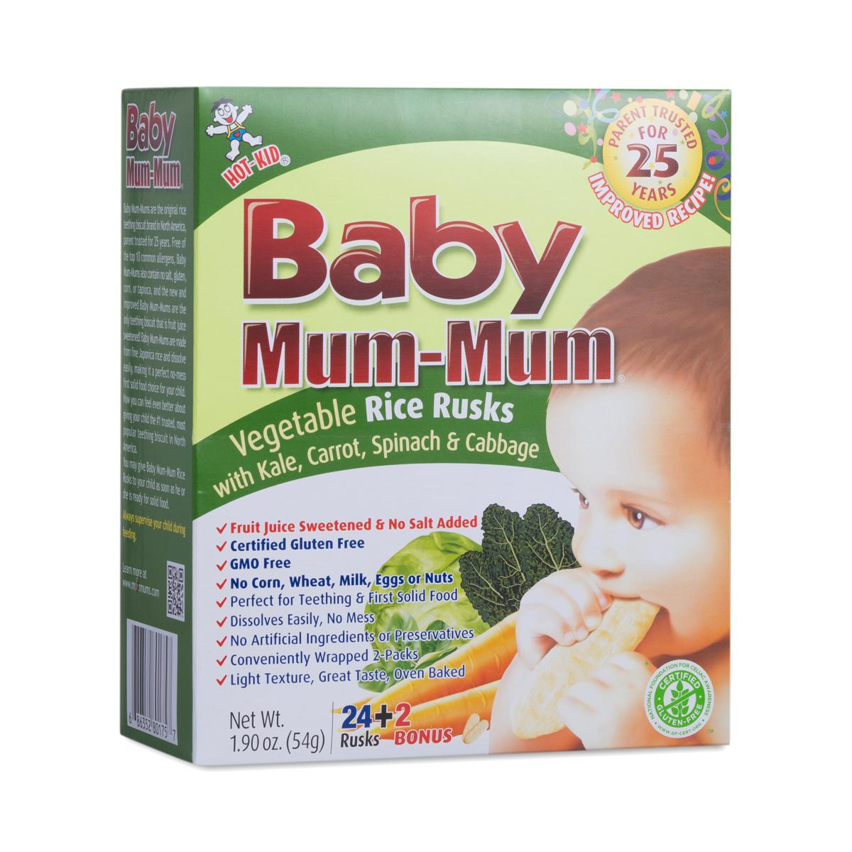 Kid Basix Baby Mum-Mum Vegetable Rice Rusks
