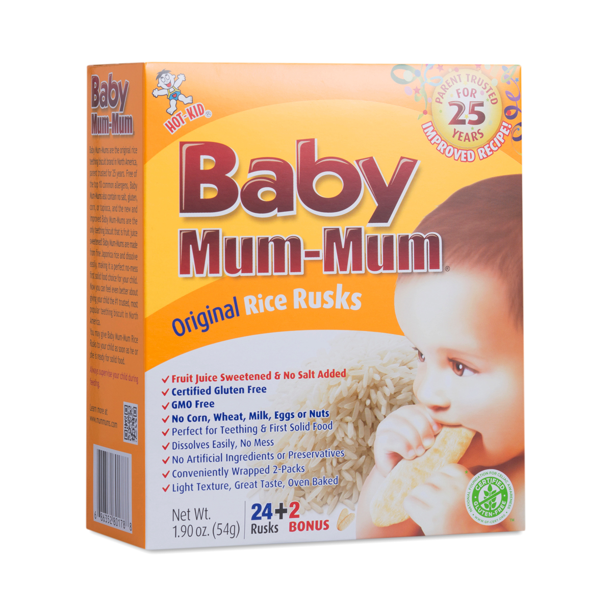 Original Baby Mum-Mum Rice Rusks by Hot Kid - Thrive Market
