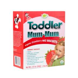 Toddler Mum-Mum Organic Strawberry Rice Biscuits