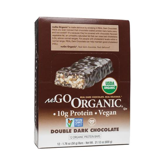 Organic Double Dark Chocolate Protein Bars