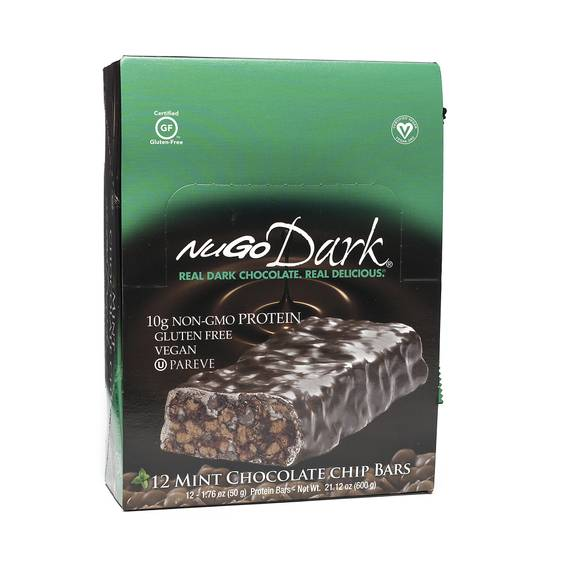 Dark Mint Chocolate Chip Protein Bars