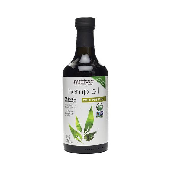 Organic Hemp Oil, Cold-Pressed