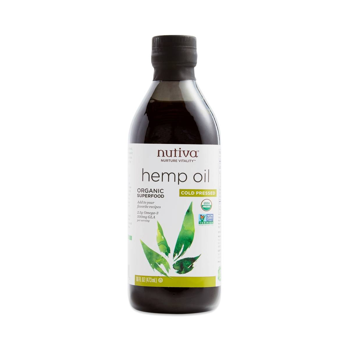 Organic Hemp Seed Oil, Cold-Pressed - Thrive Market