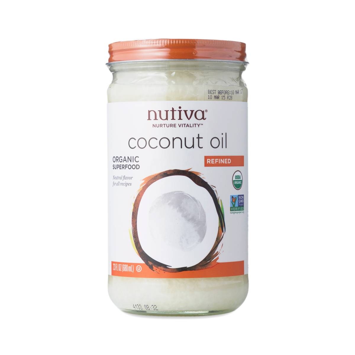 Organic Refined Coconut Oil by Nutiva - Thrive Market