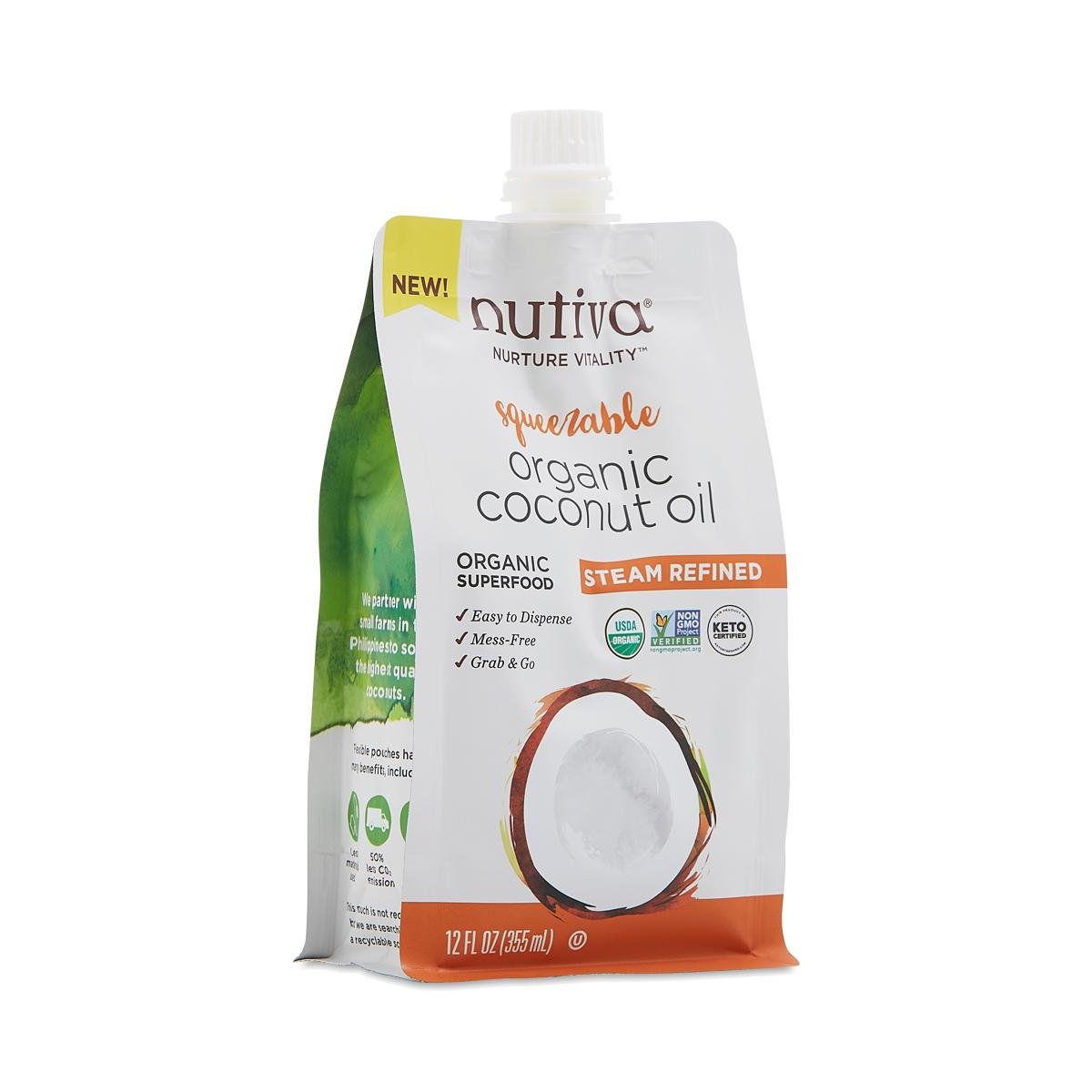 Organic Refined Coconut Oil 12 oz Pouch