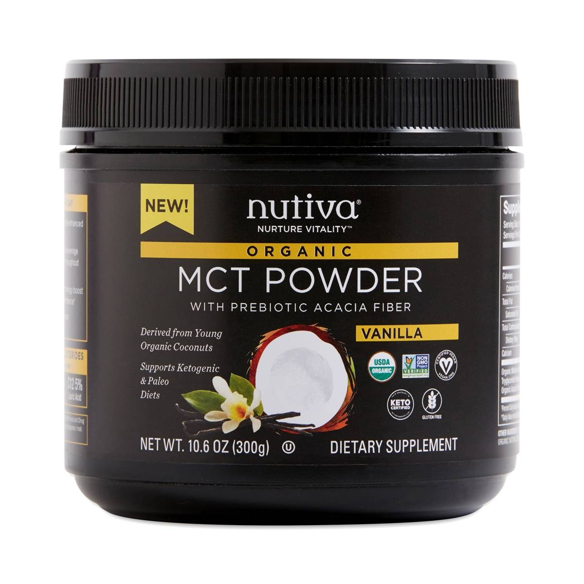 Nutiva Organic Mct Powder Vanilla Thrive Market
