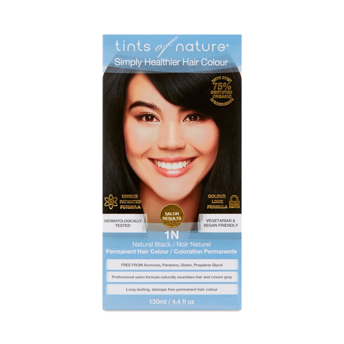 Tints of Nature Permanent Hair Color, Natural Black 1N 1 each