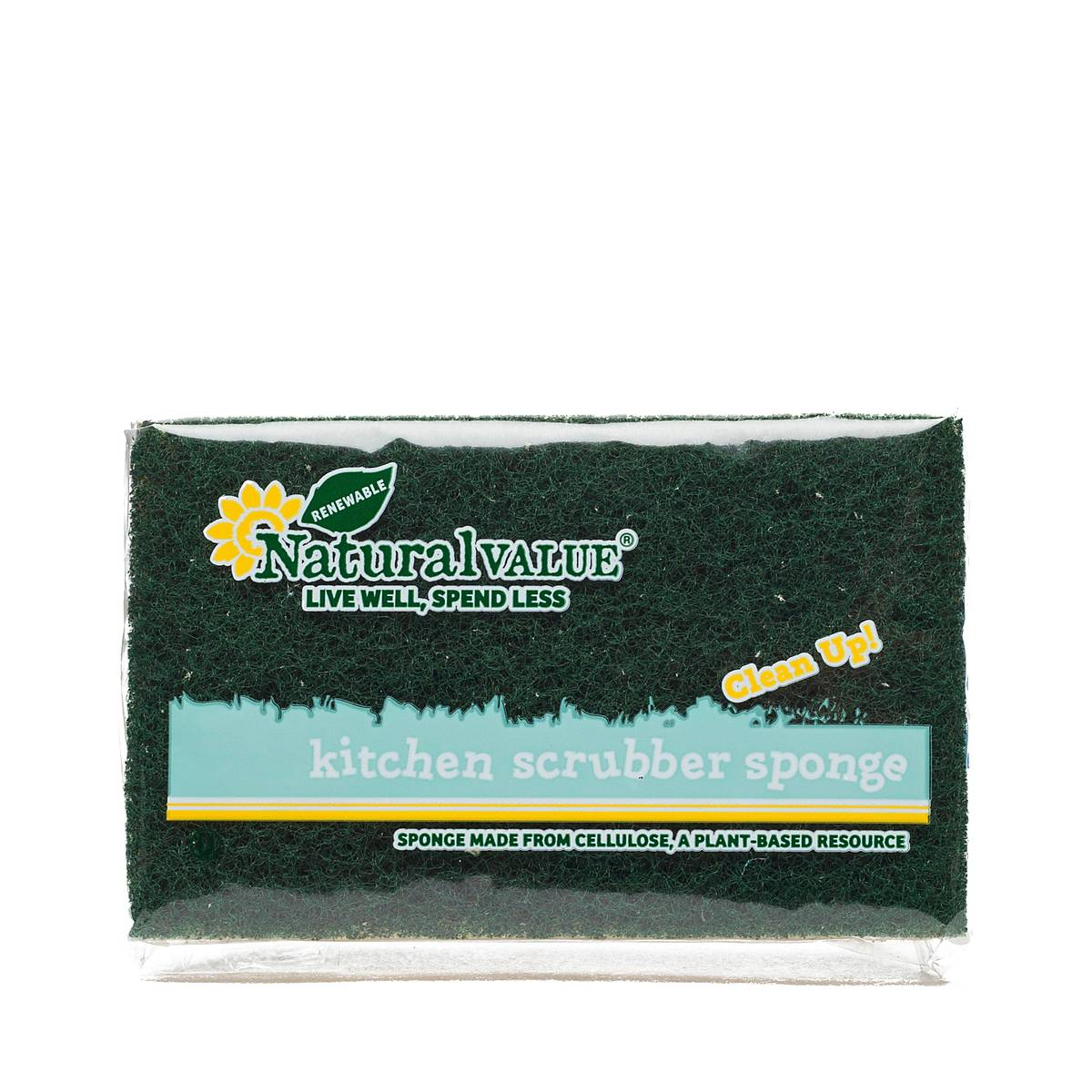 Kitchen Scrubber Sponge by Natural Value - Thrive Market
