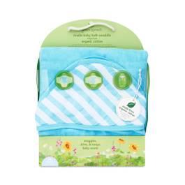Muslin Baby Bath Swaddle, Aqua