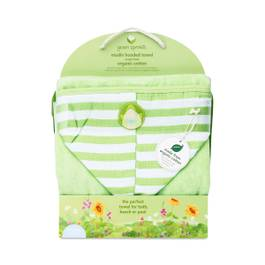Muslin Hooded Towel, Green