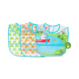 Wipe-off Bibs, Aqua Pond Set, 3 pack