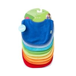 Waterproof Absorbent Terry Bibs - Blue Set