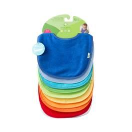 Waterproof Absorbent Terry Bibs - Blue Set