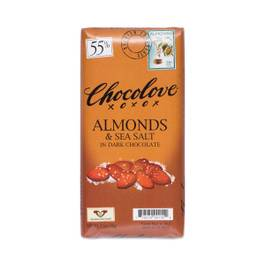 Almonds & Sea Salt Dark Chocolate - 55% Cocoa