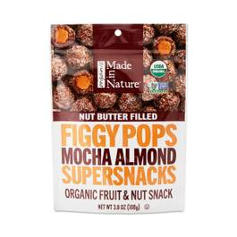 Mocha Almond Organic Nut Butter Filled Figgy Pops