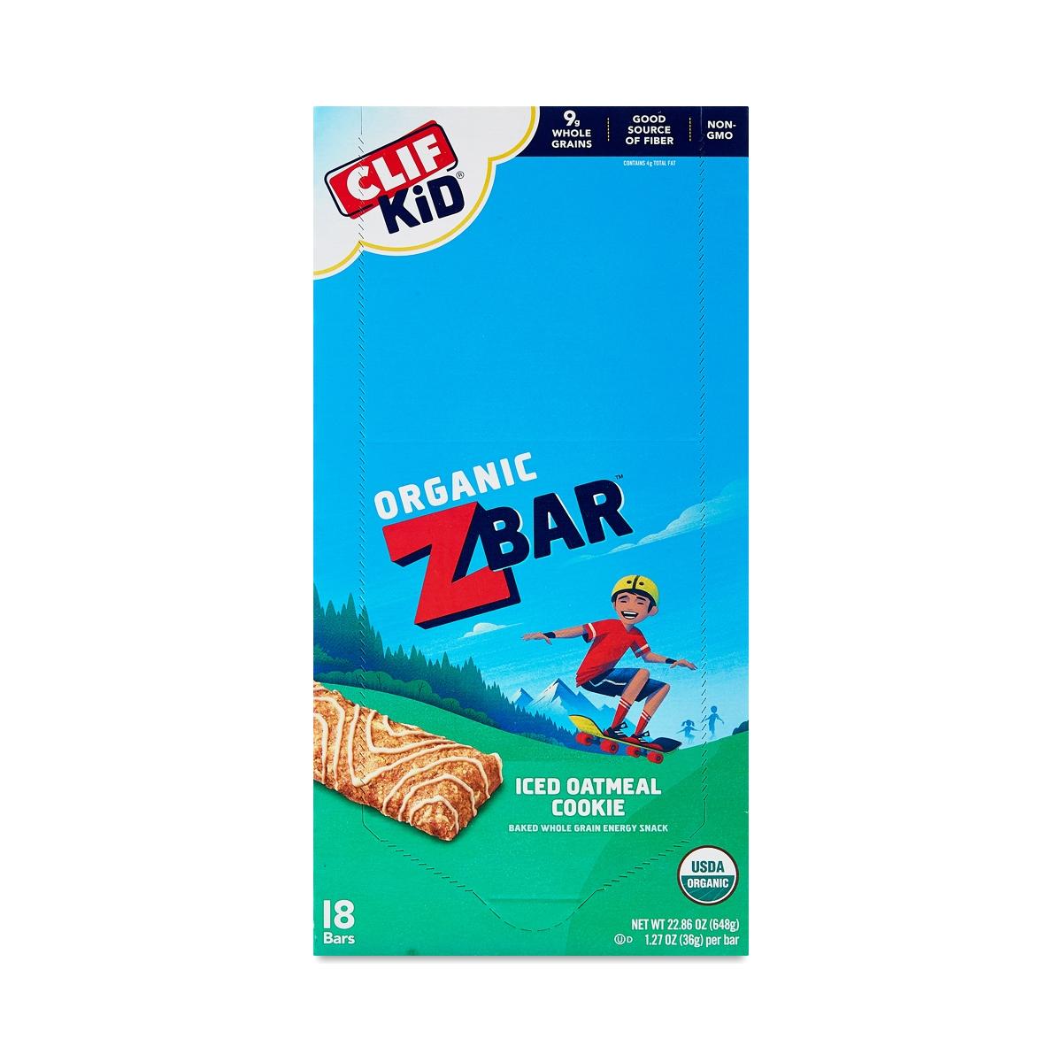 Clif Bar Zbar Iced Oatmeal Cookie  eighteen 1.27 oz bars