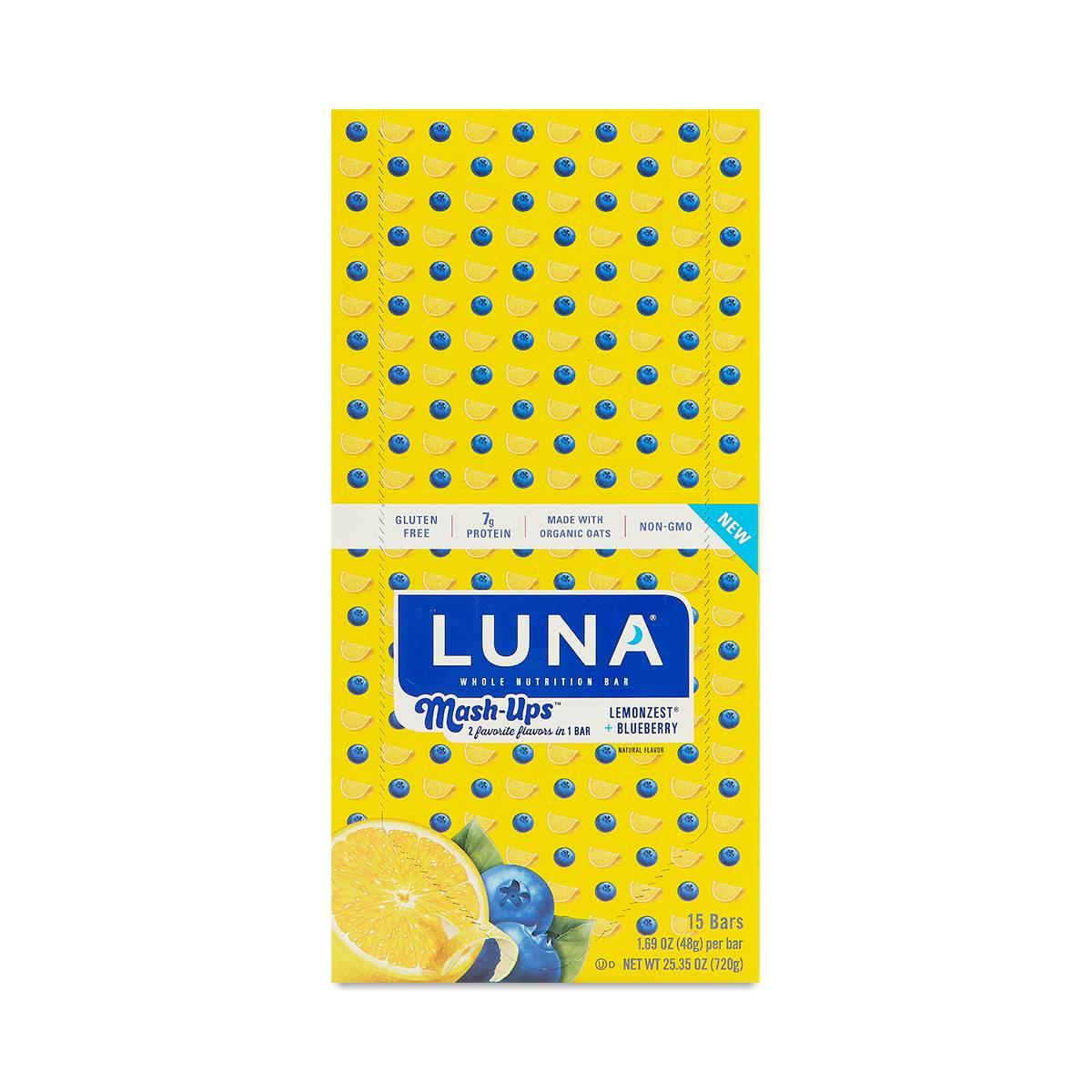 Clif Bar Luna Bar Mash Ups Lemon Zest And Blueberry Thrive Market