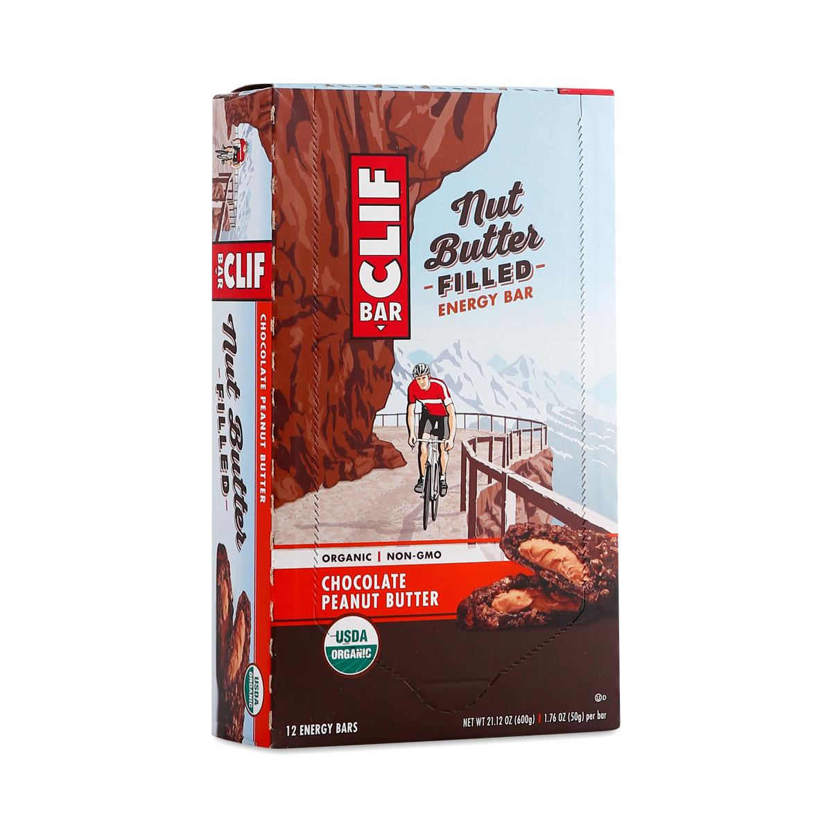 Clif Bar Nut Butter Filled Chocolate Peanut Butter Bars twelve 1.76 oz bars
