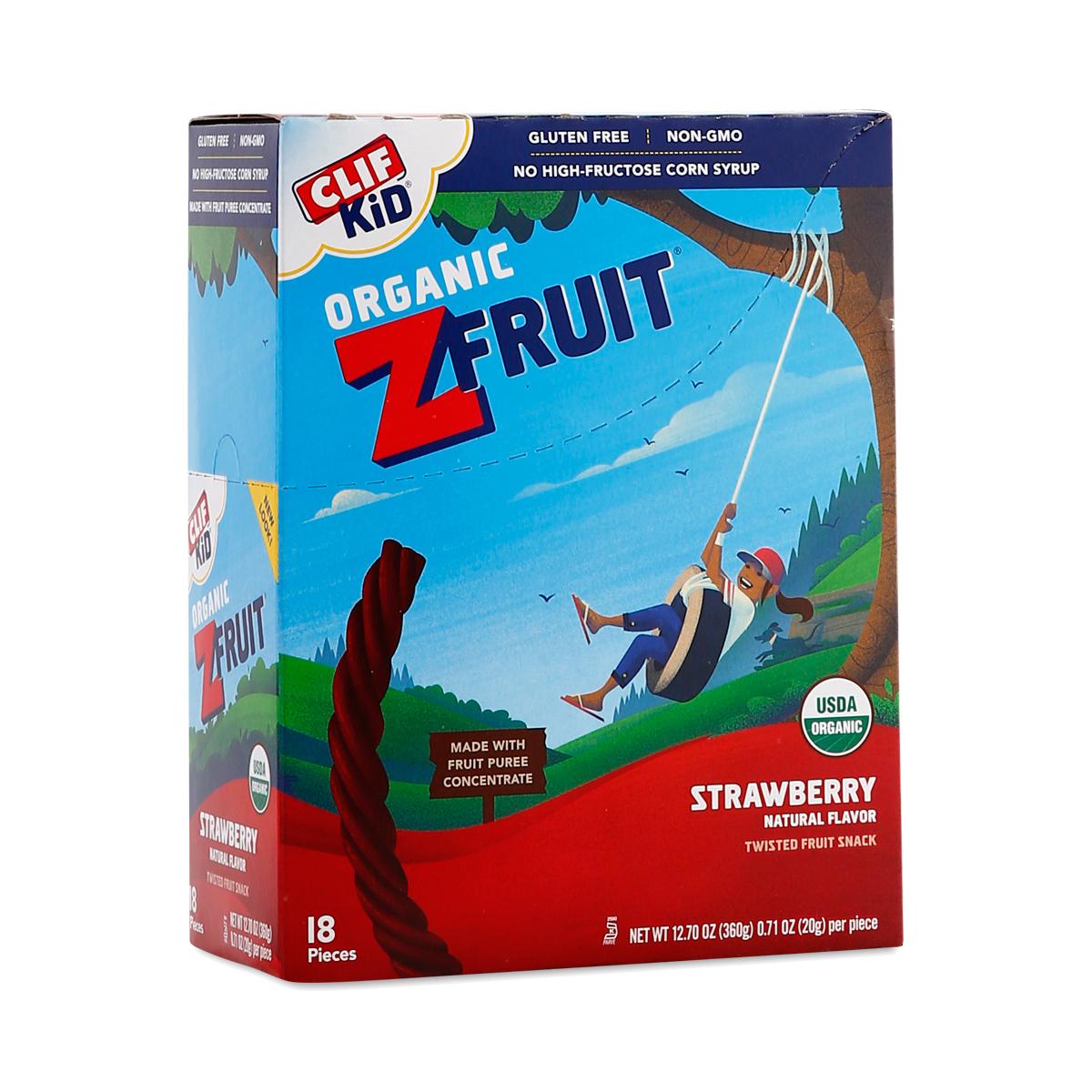 Clif Bar Clif Kid ZFruit Strawberry Snack Eighteen 0.7 oz strips