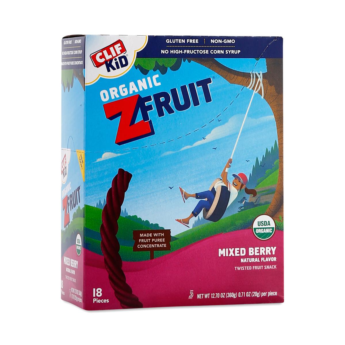 Clif Bar Clif Kid ZFruit Mixed Berry Snack Eighteen 0.7 oz strips