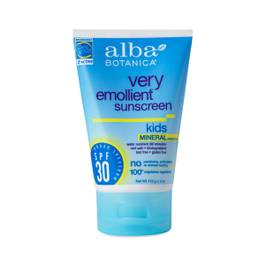 Very Emollient Natural Sun Block Mineral Protection - Kids SPF 30