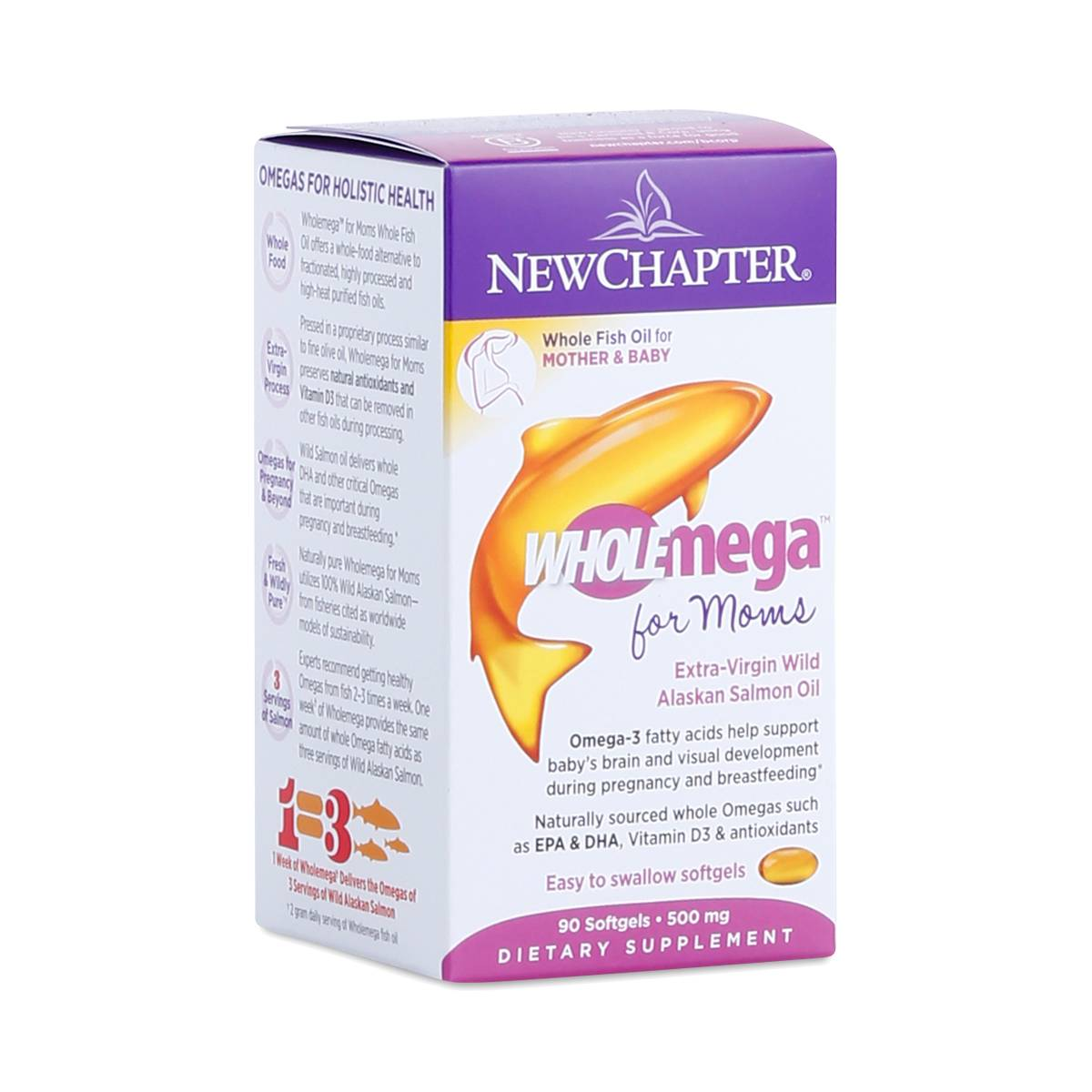 Wholemega prenatal fish oil by new chapter thrive market for New chapter fish oil