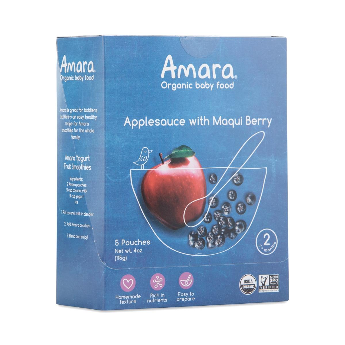 Apple Sauce w/ Maqui Berry by Amara Organic Foods - Thrive Market