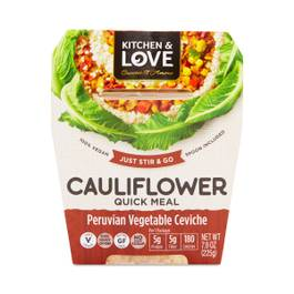 Peruvian Vegetable Ceviche Cauliflower Meal