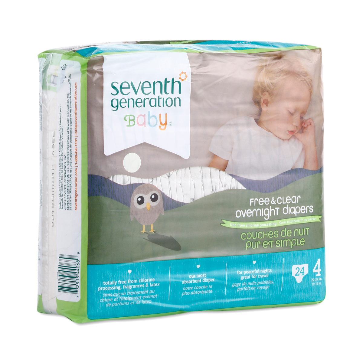 Size 4 Overnight Diapers by Seventh Generation - Thrive Market