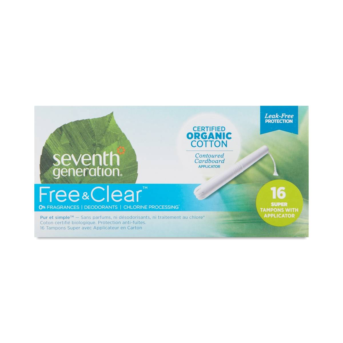 Seventh Generation Organic Cotton Tampons with Applicator ...
