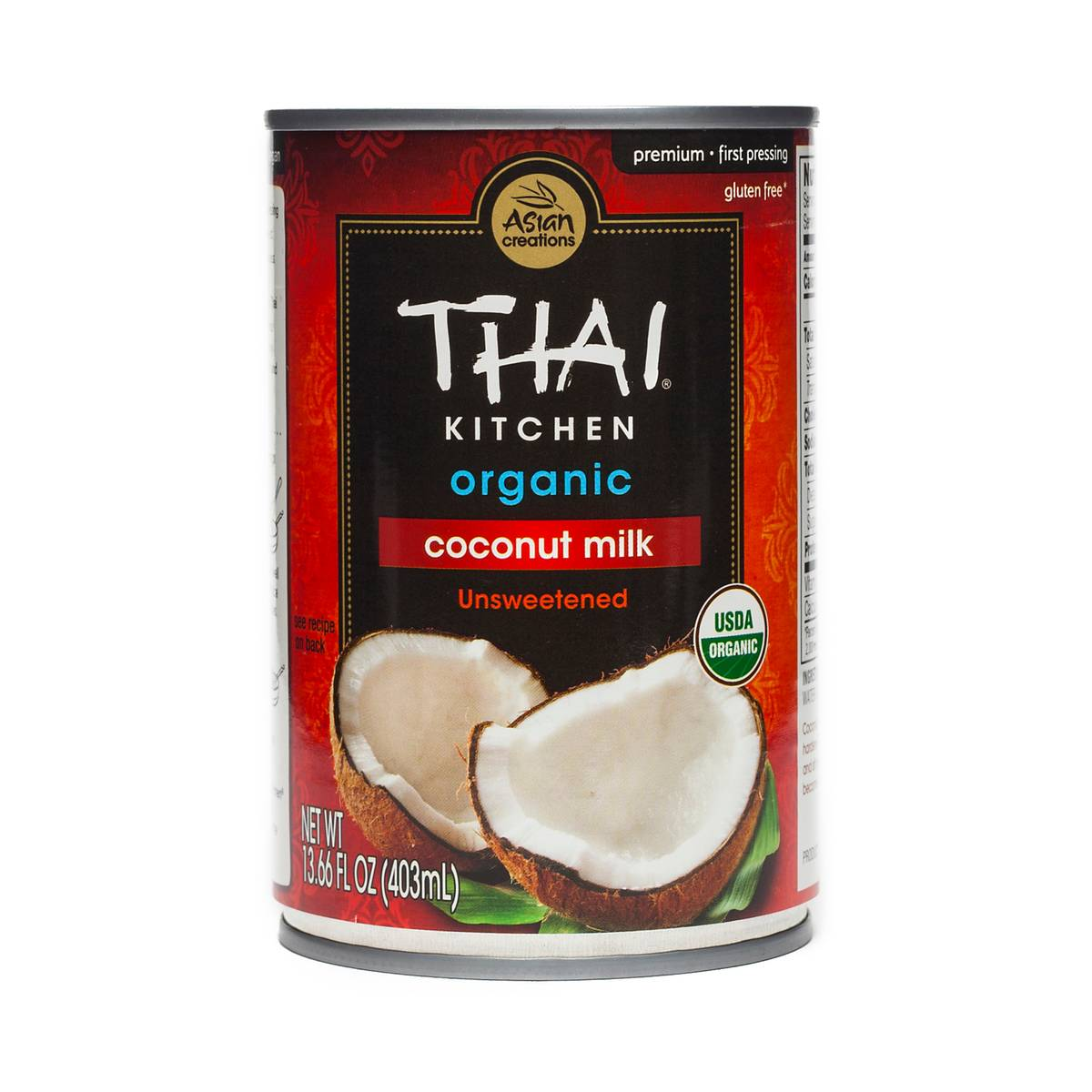Thai Kitchen Coconut Cream organic coconut milkthai kitchen - thrive market