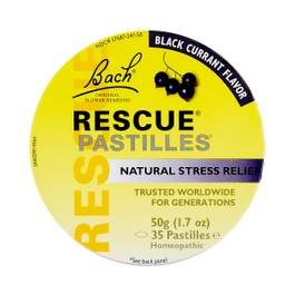 Natural Stress Relief Rescue Pastilles, Black Currant