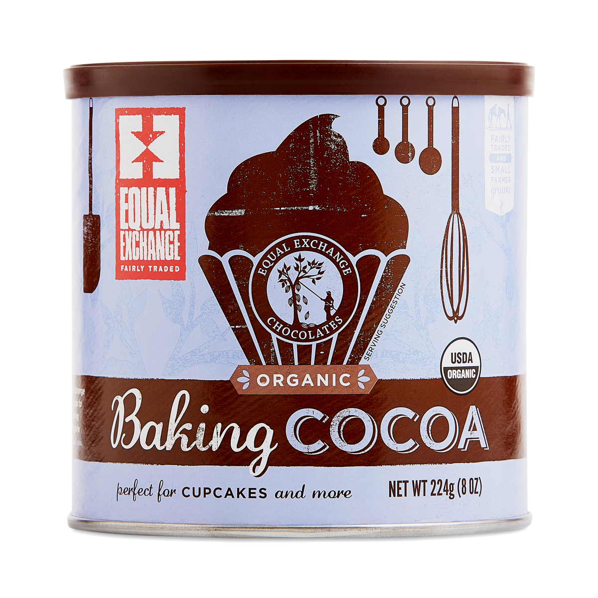 Equal Exchange Organic Baking Cocoa 8 oz tin