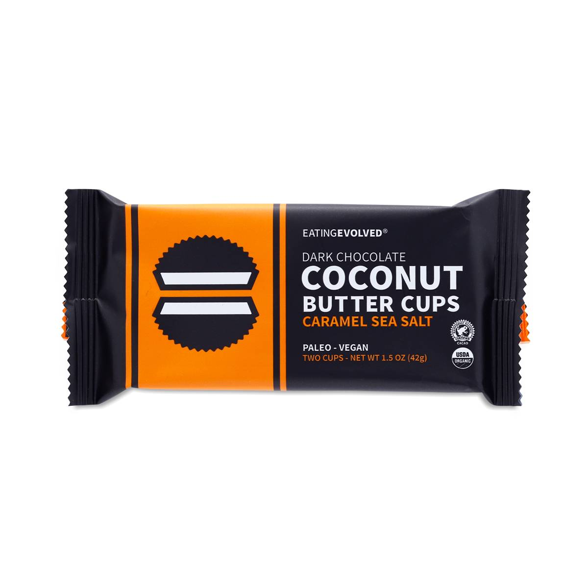 Eatingevolved Caramel Sea Salt Coconut Butter Cups
